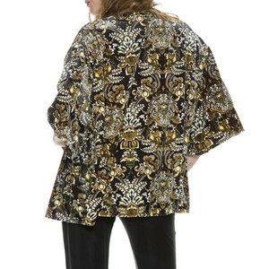 Volcom Velvet Wallflower 3/4 Sleeve Throw kimono s